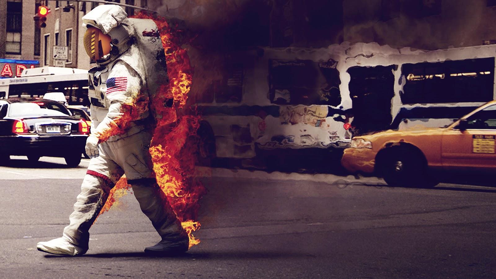 astronautfire1920x1080