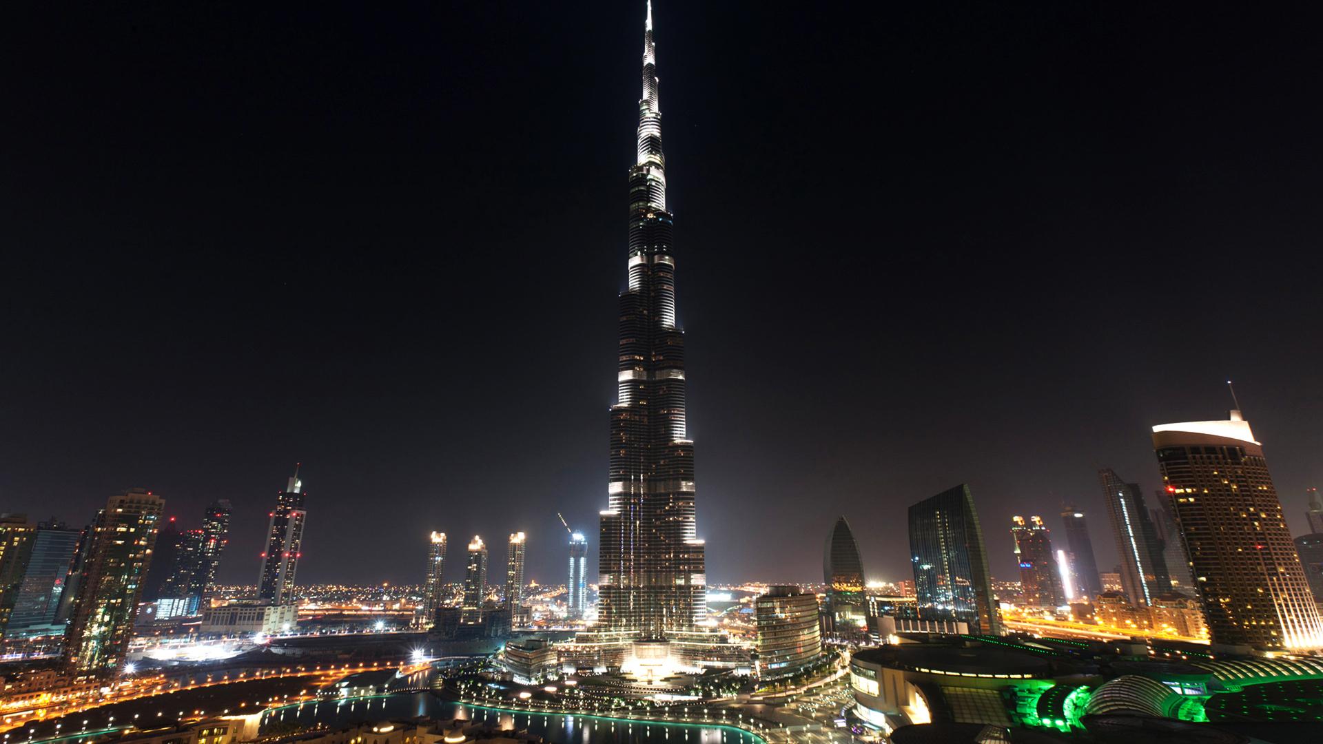 burj khalifa at night 1920x1080