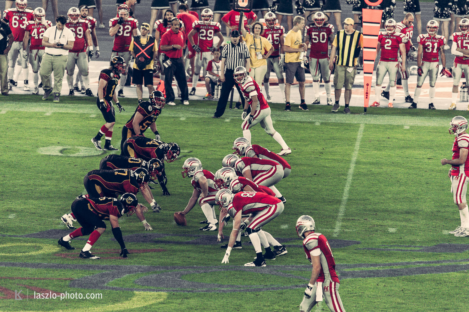 American Football European Championship 2014, Austria vs. Germany.